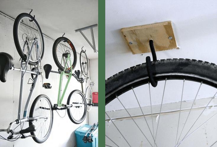 kerékpár kampóra akasztva